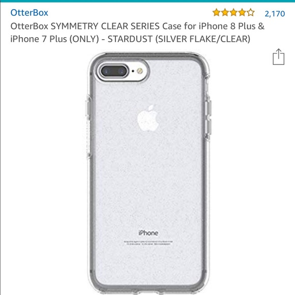 new style 4e2de 00ad7 Otterbox symmetry glitter case iPhone 8 Plus